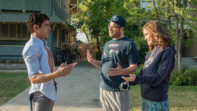 Zac Efron, Seth Rogen and Rose Byrne in 'Neighbors' (photo -- Universal Pictures)