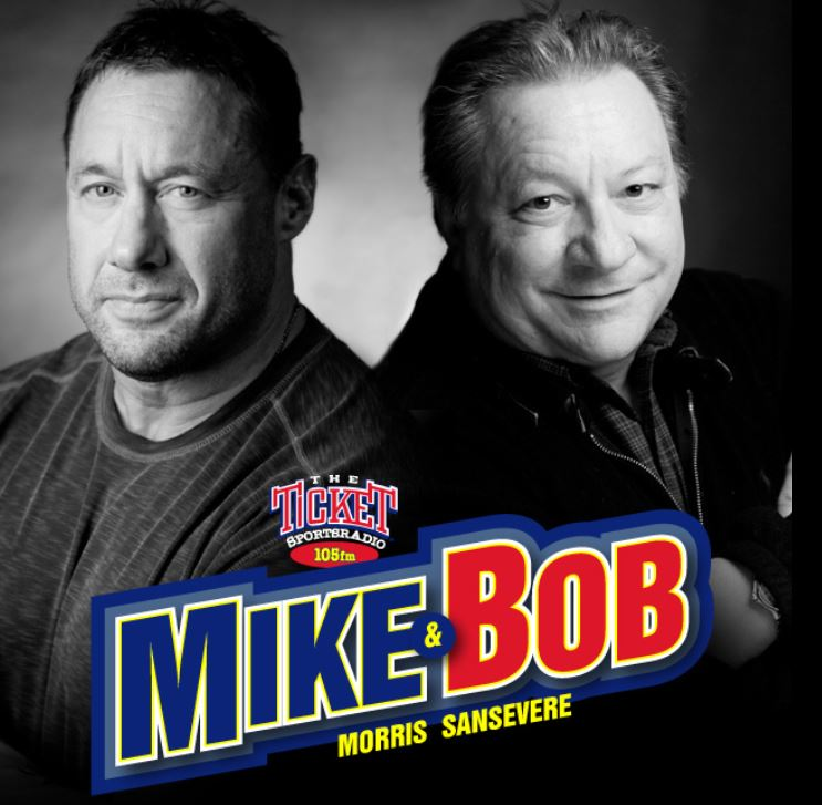 Mike and Bob 105 The Ticket Logo