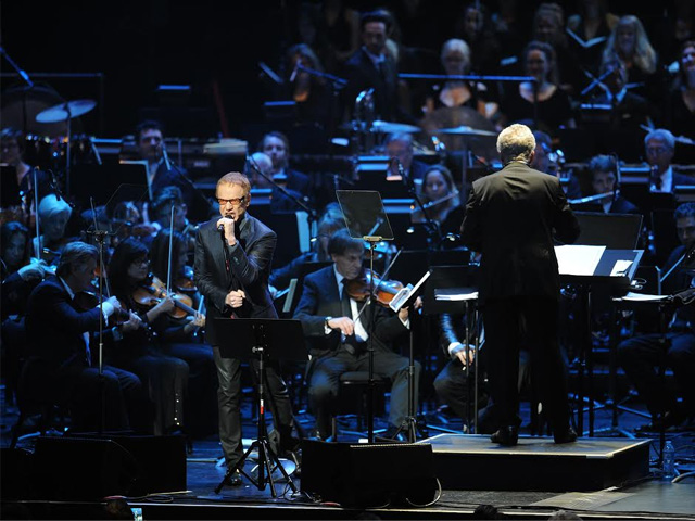 "Danny Elfman performs at a previous ""Music of the Films of Tim Burton"" concert (photo: Costa Communications)."