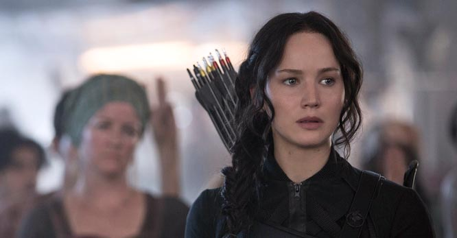 Jennifer Lawrence in 'The Hunger Games Mockingjay, Part 1)