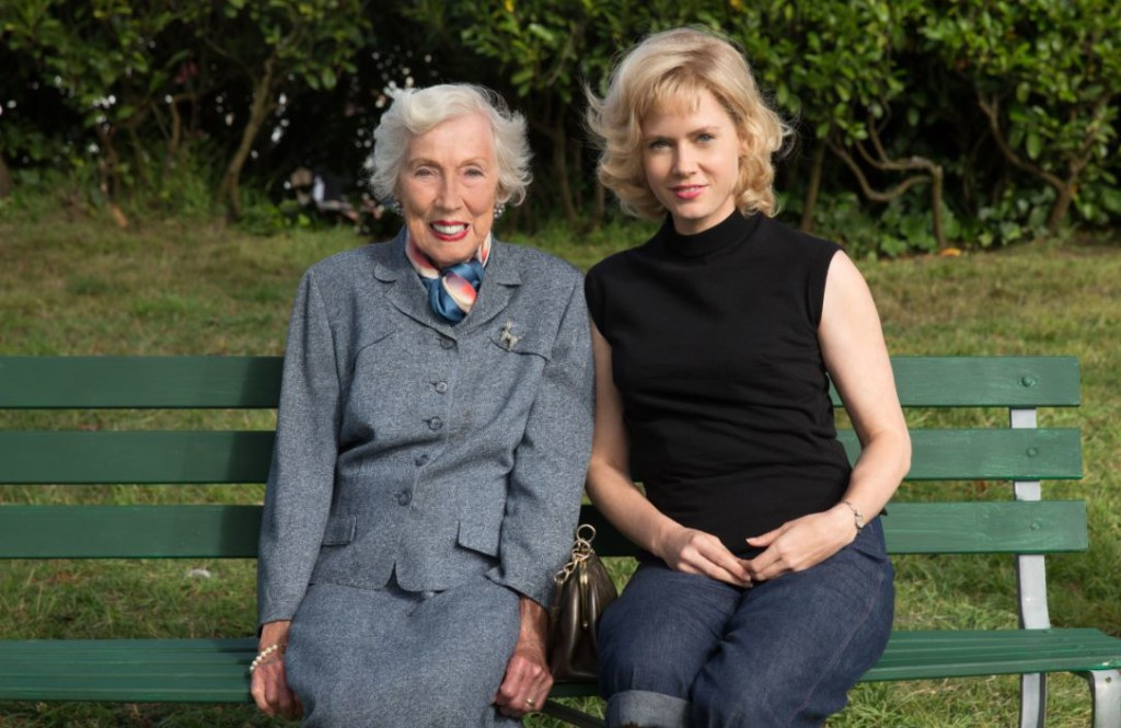 Margaret Keane and Amy Adams on the set of 'Big Eyes'