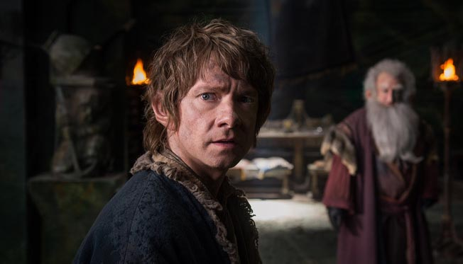 Martin Freeman in 'The Hobbit The Battle of the Five Armies' (photo -- Warner Bros)