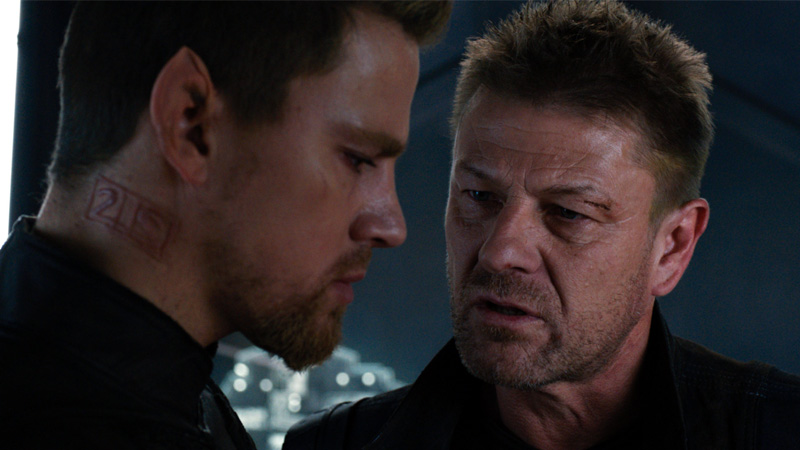 Channing Tatum and Sean Bean in 'Jupiter Ascending'