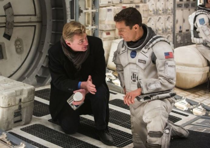 Christopher Nolan and Matthew McConaughey on the set of 'Interstellar'