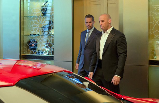 Paul Walker and Vin Diesel in 'Furious Seven'