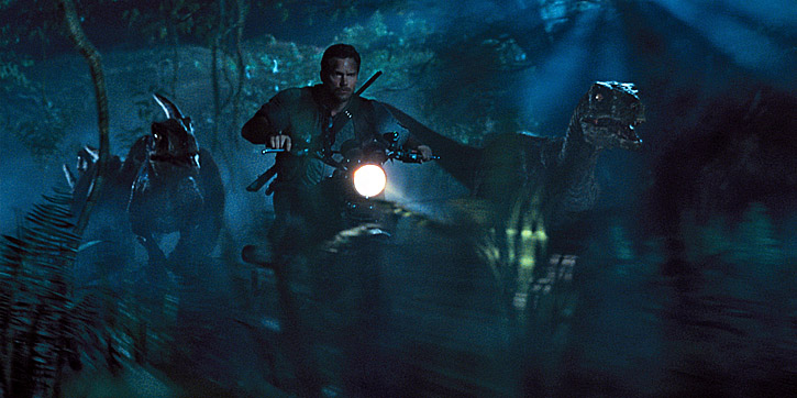 Chris Pratt in 'Jurassic World'