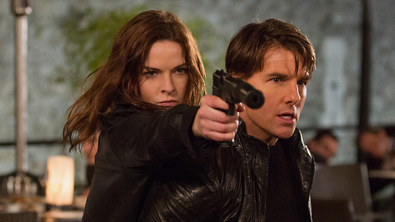 Rebecca Ferguson Tom Cruise MI Rogue Nation