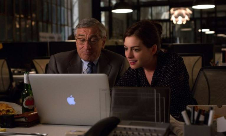 Robert De Niro and Anne Hathaway in 'The Intern' (photo -- Warner Bros.)