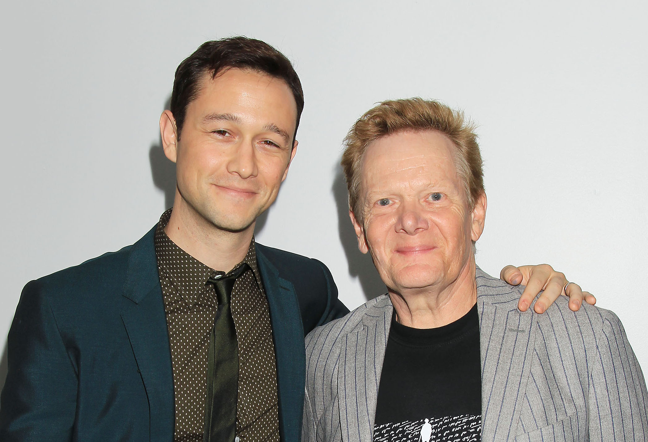 "Joseph Gordon-Levitt and Philippe Petit at the Opening Night Gala Presentation and World Premiere of ""The Walk"" (photo: Sony Pictures)"