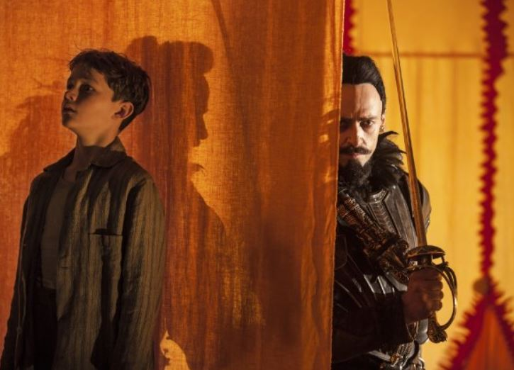 Levi Miller and Hugh Jackman in 'Pan' (photo -- Warner Bros)