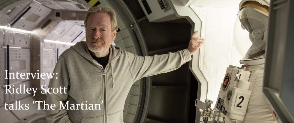 Ridley Scott on the set of 'The Martian' (photo: 20th Century Fox)