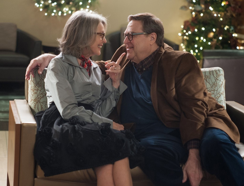 Diane Keaton and John Goodman in 'Love the Coopers' (CBS Films)