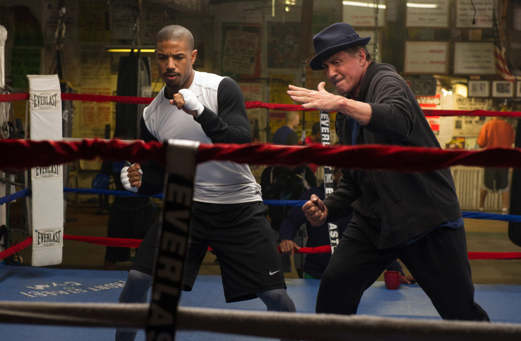 Michael B. Jordan and Sylvester Stallone in 'Creed' (photo: Warner Bros.)