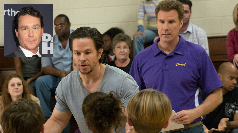 Mark Wahlberg and Will Ferrell in 'Daddy's Home' (inset Brian Burns) Photos: Paramount Pictures