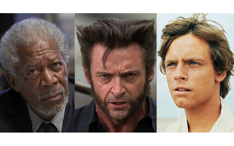 Morgan Freeman, Hugh Jackman, Mark Hamill