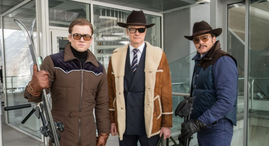 Taron Egerton, Colin Firth and Pedro Pascal in Kingsman The Golden Circle (photo: 20th Century Fox)