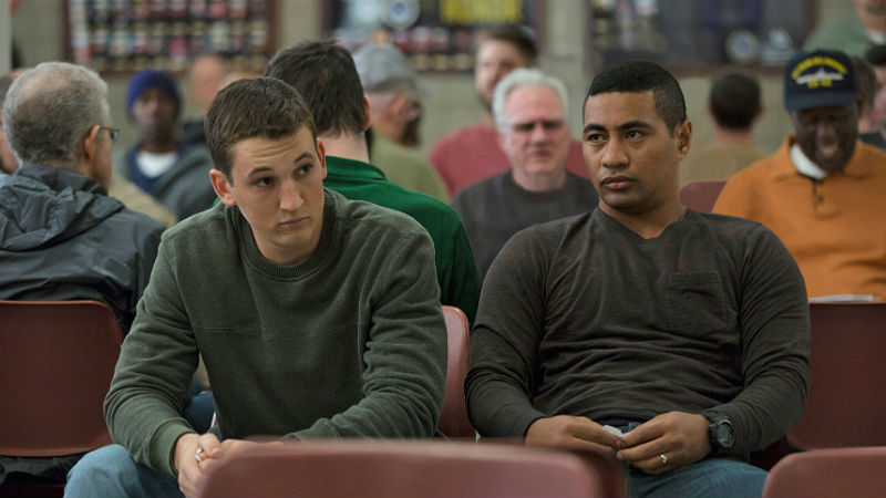 Miles Teller and Beulah Koale in Thank You for Your Service (photo - Universal Pictures)