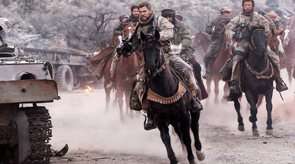 Chris Hemsworth in '12 Strong' (photo Warner Bros)