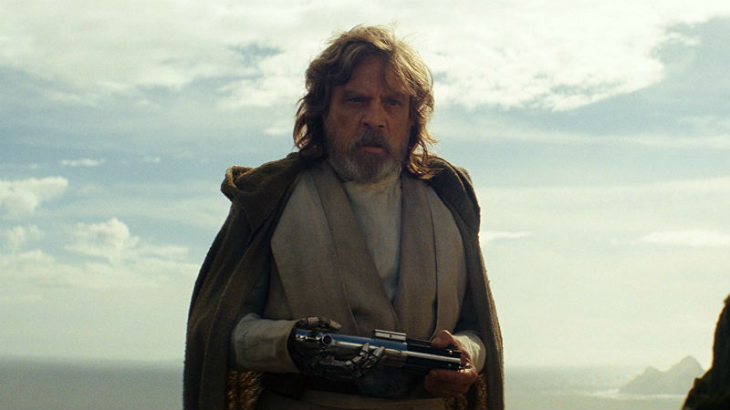 Mark Hamill in 'Star Wars The Last Jedi' (photo - Disney Lucasfilm)