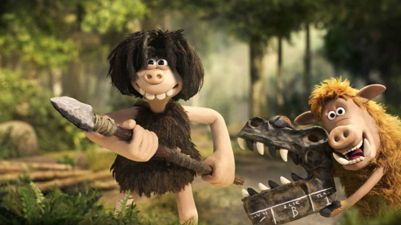 Dug (voice of Eddie Redmayne) and Hognob (Nick Park) in 'Early Man' (photo Lionsgate